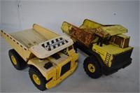 Tonka & Hard Hat Dump Trucks