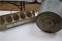 Vintage Coke Tray & Galv. Bucket