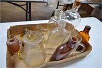 Glass Bottles / Lamp Parts