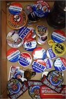 Election Pins / Nascar Patches