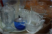 Glass Creamers & Platters