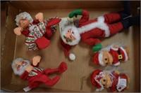 Annalee & Russ Christmas Dolls