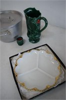 Fenton Christmas Pitcher / Candle Holder / Plate