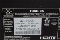 """32"""" Toshiba TV (no remote)"""