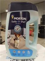 NIB Morton 8LB safe-t-pet ice melt