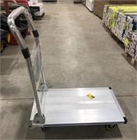 Aluminum rolling push cart