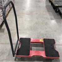 Snap-Loc plastic rolling push cart