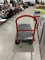 Rubbermaid plastic rolling push cart. 2500