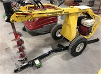 Ground Hog Post Hole Digger with  Auger attachment