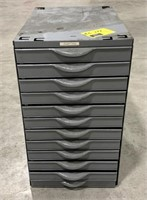 Equipto storage cabinet with drawers