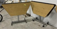 Folding cafeteria table