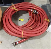Hot water hose with fittings