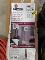 Empire gravity vented gas wall furnace model