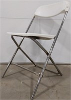 Plastic Samsonite folding and stackable chair