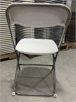 Plastic Samsonite folding and stackable chair.