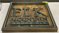 Elk Mountain Amber Ale advertisement wall sign