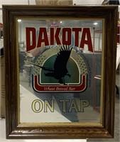 Dakota advertisement wall sign. Mirrored.