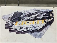 Budweiser Ice advertisement wall sign.