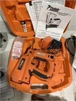 Paslode cordless 18 gauge brad nailer in case