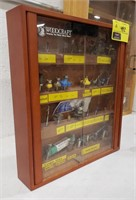Woodcraft Display Case with Router Bits