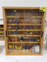 Wooden Display Case with Router Bits