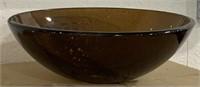 Fuji glass sink. Old walnut Color. 38hx24wx21d