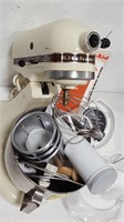 Kitchen Aid K45SS Mixer w/Accessories and