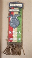 M.W. of A. Fraternity Badge + German Wound Badge.