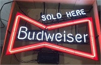 Budweiser Sold Here Neon Advertising sign