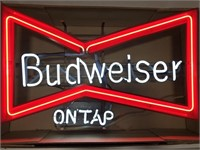 Budweiser On Tap Neon Advertising Sign