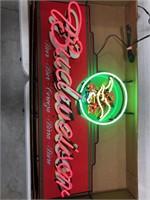 Budweiser Neon Advertising Sign
