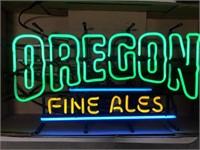 Oregon Fine Ales Neon Advertising Sign
