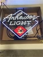 Anheuser Light Neon Advertising Sign