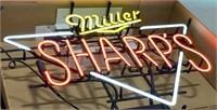 Miller Sharps Neon Advertising Sign