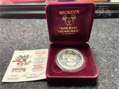 999 102 Silver Disney Mickey Mouse Coin Other Items For Sale