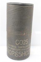 Large 75MM Fired Blank Cartridge & Container