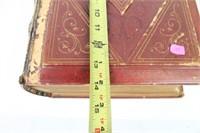 Large Antique Illuminated Edition Holy Bible