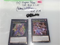 2x Super Rare 1st Edition & LE Yugioh Cards