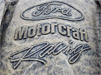 Ford Motorcraft Racing Blue Jean Jacket Size