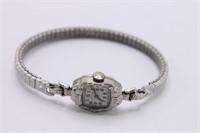 14K & Diamond Art Deco Lady Elgin 619L Watch