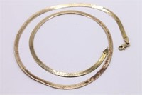 Heavy 14K Gold Herringbone Necklace 18.6 GRAMS!
