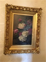 Framed J Ross Oil Painting
