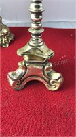 Collection of Vintage Brass Candle Holders