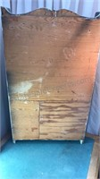 Vintage Wood Painted Wall Mounted  Organizer With