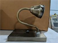 NIB brushed brass decorative light fixture