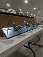 NIB Chrome decorative light fixture