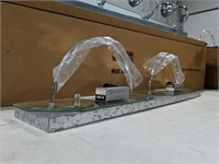 NIB Chrome and mirror decorative light fixture