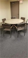 Table, office, with 7 chairs