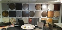 Display, wall, table tops