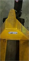 Pallet jack, Uline, narrow fork, yellow